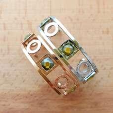 Литой браслет в родиевом покрытии