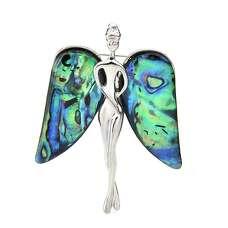 Брошь Ангел с перламутровыми крыльями