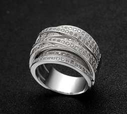 Широкое многослойное кольцо