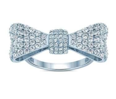 Серебряное кольцо крупный бант Tiffany