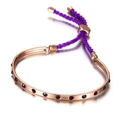 Браслет реплика Michael Kors с фиолетовым шнурком